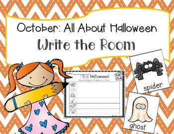 October: Halloween Write the Room + 2 Bonus Activites