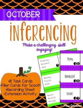 October Inferencing Task Cards