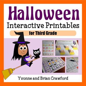 Halloween Math Interactive Printables Third Grade Common Core