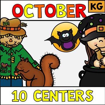 October Literacy Stations Centers Kindergarten