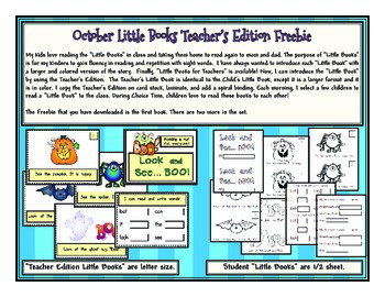 October Little Book Freebie (Teacher's Copy)
