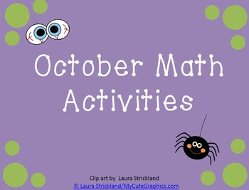 October Math Activities