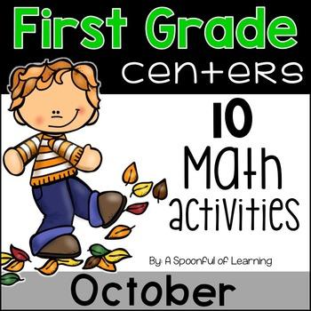 October Math Centers - First Grade