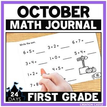 October Math Journal - 1st Grade