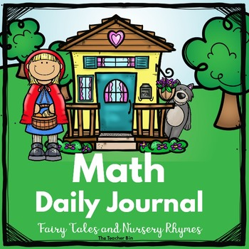 kindergarten -Special Ed. -Math Daily Journal Fairy Tales