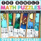 Math Puzzles for Math Centers Bundle