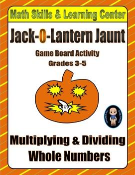 Halloween Math Skills & Learning Center (Multiply & Divide