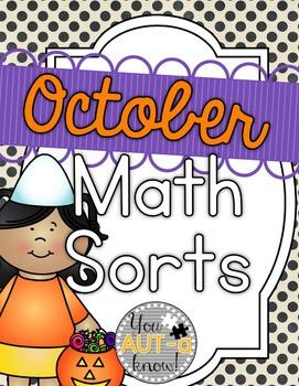 October Math Sorts - CCSS Aligned for Grades K-2