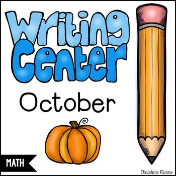 October Math Writing Station