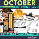 OCTOBER WRITING PROMPTS Opinion Persuasive Narrative Creat