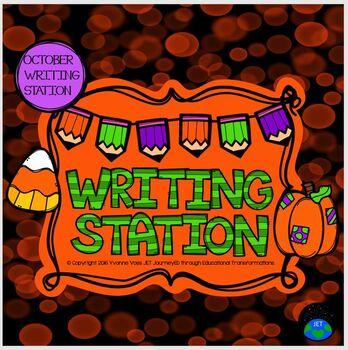 October Mini Writing Station