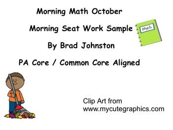 October Morning Math Sample - 2 Days