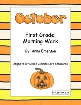October Morning Work First Grade