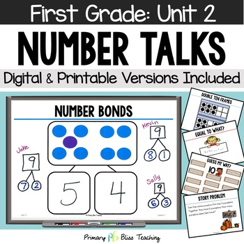 Number Talks - October of First Grade - Common Core Aligned