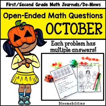 October Open-Ended Math Questions for Journals or Do-Nows