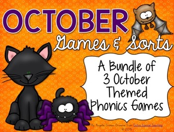 October Phonics Games & Sorts
