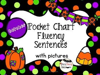 October Pocket Chart Fluency