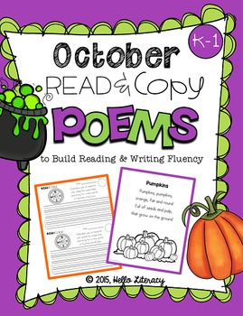 October Poems for Building Reading Fluency & Writing Stami