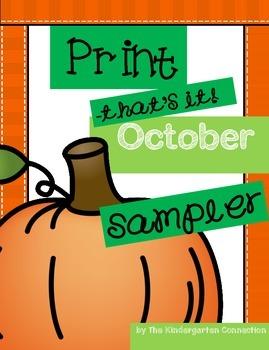October Print-That's It! SAMPLER