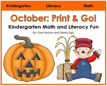 October Print and Go: Math and Literacy Activities for Kin