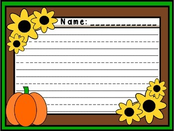 Pumpkin Fall Writing Paper