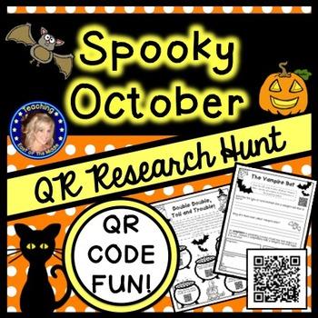 Halloween QR Code Research Activities