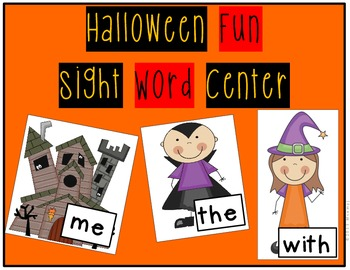 October Sight Word Center- Halloween Themed w/ Picture Ins