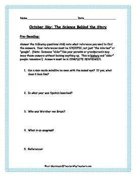 Space Exploration: October Sky/Rocket Boys (The Science Be