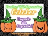 October Spanish Fluency Task Cards