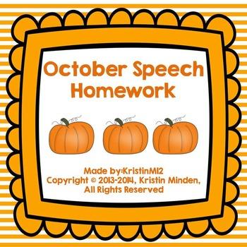 October Speech Homework