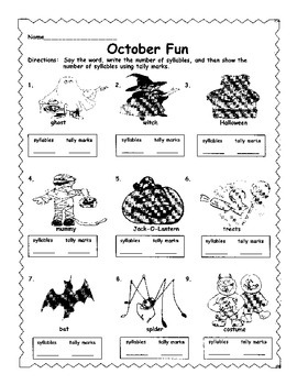 October Syllables and Tally Marks