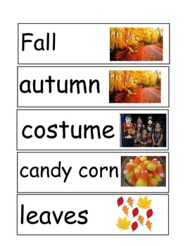 October Theme Classroom Packet