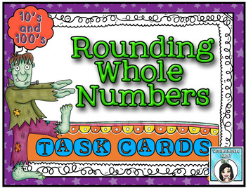 October Themed Rounding Task Cards { Tens and Hundreds }