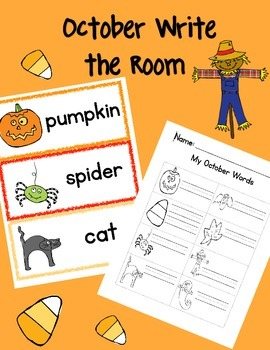October Themed Write the Room