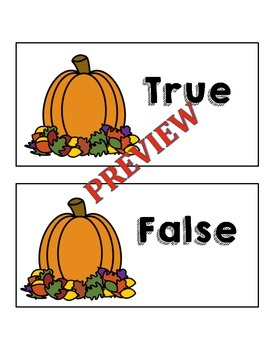 October True False Fact Sort