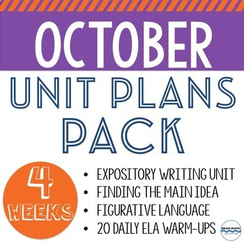 October Unit Plans Pack - 4 ELA Units to Teach All October Long!