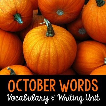 October Word Cards and Word Walls {in English and Spanish}