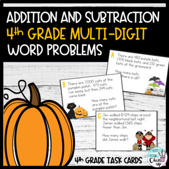 October Word Problems:  Multi-Digit Word Problems Using th
