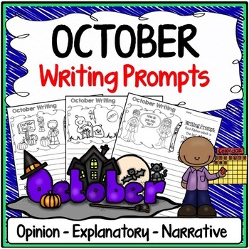 October Writing Prompts {Narrative Writing, Informative &
