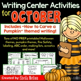 October Writing Center NO PREP Printables