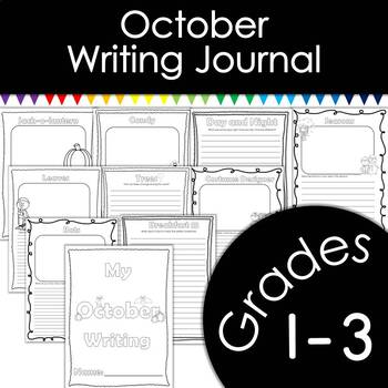 October Writing Journal with Prompts