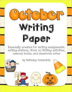 October Writing Paper