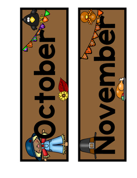 October and November Calendar