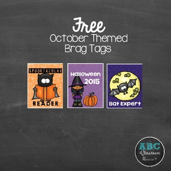 October theme Brag Tags FREEBIE