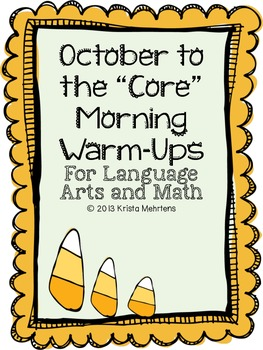 """October to the """"Core"""" Morning Warm-Ups Language Arts and M"""