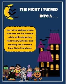 3-5 October/Halloween Narrative Writing Activity with ELA