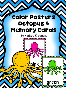 Octopus Color Word Posters & Memory Cards