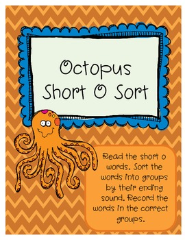 Octopus Short O Word Sort