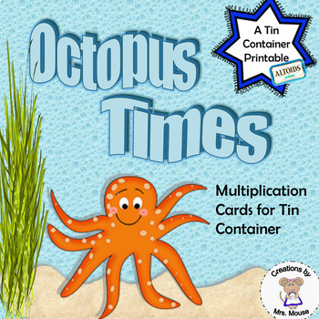 Math-Multiplication Cards (8 tables) - Octopus Times
