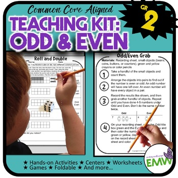 Odd and Even Kit  Activities  Worksheets  Games  and QR Co